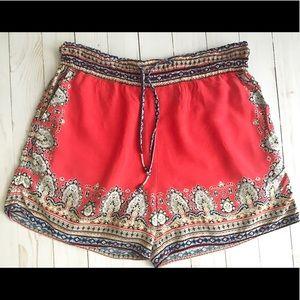 Anthropologie Hei Hei Scarf Print Shorts XS